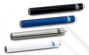 V2 e cigs batteries in black, blue, stainless steel and white